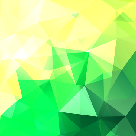 dimensions: Abstract mosaic background. Triangle geometric background. Design elements. Vector illustration. Yellow, green colors.