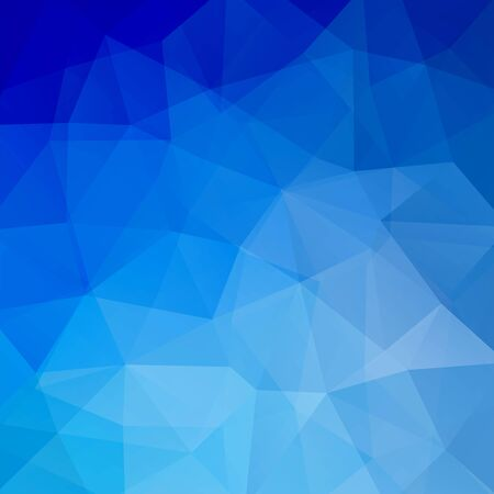 low perspective: Polygonal blue vector background. Can be used in cover design, book design, website background. Vector illustration