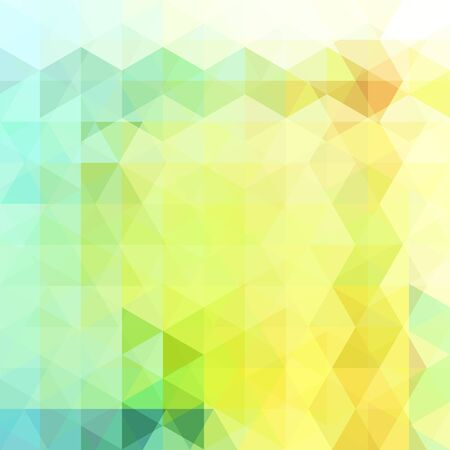 Abstract background consisting of pastel yellow, blue, green, triangles. Geometric design for business presentations or web template banner flyer. Vector illustration