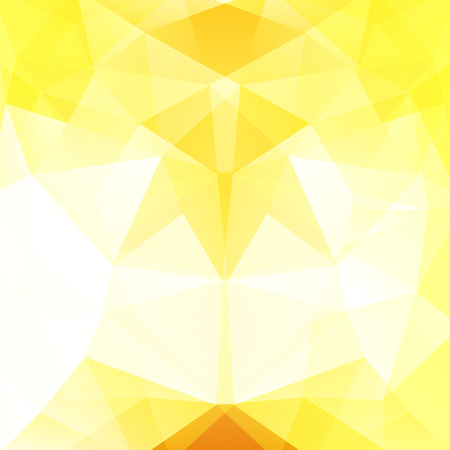 dimension: Abstract mosaic background. Triangle geometric background. Design elements. Vector illustration. Yellow, white colors. Illustration