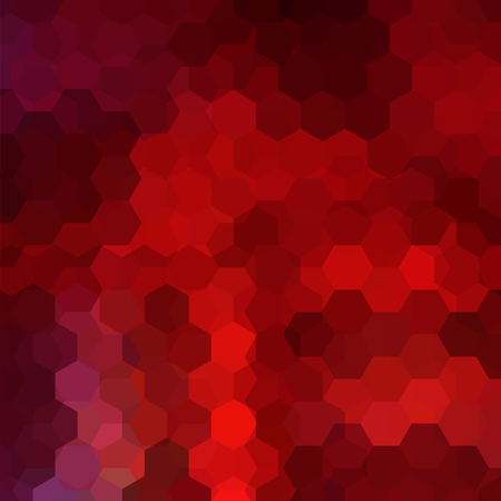 scrunch: Geometric pattern, vector background with hexagons in red, brown tones. Illustration pattern