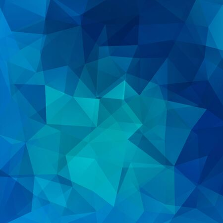 low perspective: Background of geometric shapes. Blue mosaic pattern. Vector EPS 10. Vector illustration