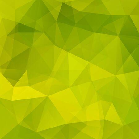 Abstracte achtergrond die uit groene driehoeken bestaat. Geometrisch ontwerp voor zakelijke presentaties of web banner flyer. Vector illustratie