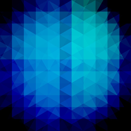 dimension: Background made of dark blue triangles. Square composition with geometric shapes. Eps 10