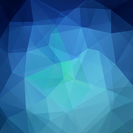 Polygonal blue vector background. Can be used in cover design, book design, website background. Vector illustration