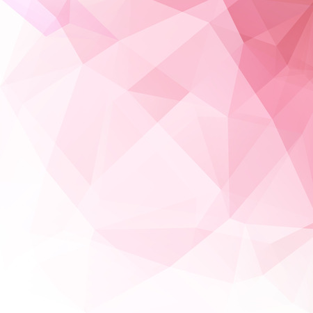 Polygonal vector background. Can be used in cover design, book design, website background. Vector illustration. Pastel pink colors. Ilustrace