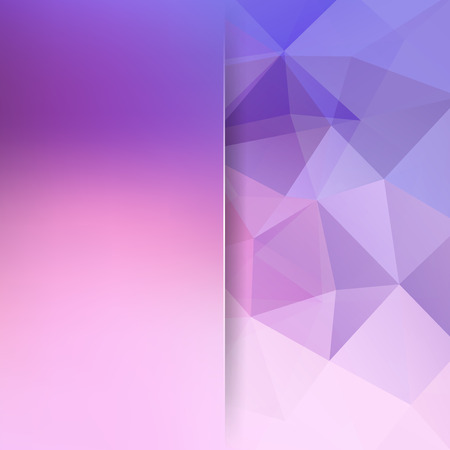 Abstract geometric style pink background. Blur background with glass. Vector illustration Illustration