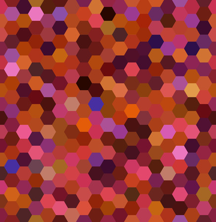 Vector background with orange, brown hexagons. Can be used for printing onto fabric and paper or decoration.