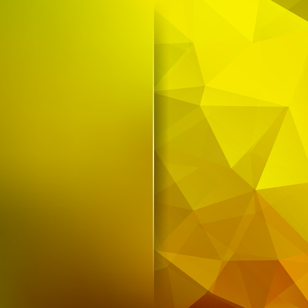 Background of yellow geometric shapes. Blur background with glass. Colorful mosaic pattern. Illustration