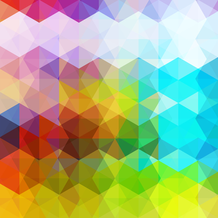 reflection in mirror: Triangle vector background. Can be used in cover design, book design, website background. Colorful vector illustration