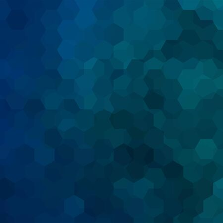 scrunch: Abstract background consisting of dark blue hexagons. Geometric design for business presentations or web template banner flyer. Vector illustration