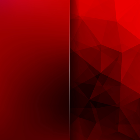 Polygonal red vector background. Blur background. Can be used in cover design, book design, website background. Vector illustration