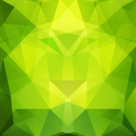 Polygonal vector background. Can be used in cover design, book design, website background. Vector illustration. yellow, green colors.