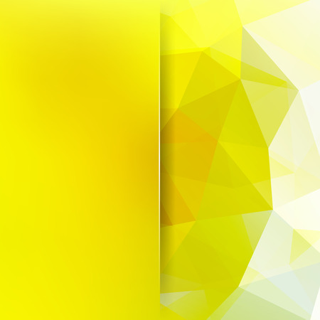 Abstract background consisting of yellow triangles. Geometric design for business presentations or web template banner flyer.