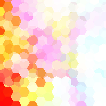Background of geometric shapes. Colorful mosaic pattern. Vector EPS 10. Vector illustration. White, red, orange, pink colors.