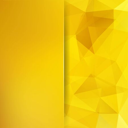Abstract geometric style yellow background. Blur background with glass. Vector illustration Ilustracja