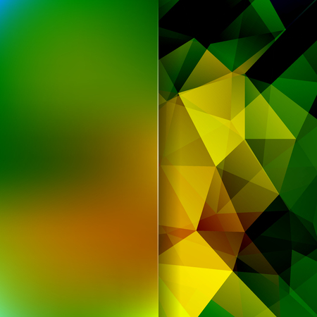 Polygonal vector background. Blur background. Can be used in cover design, book design, website background. Vector illustration. Yellow, green colors.