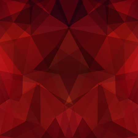 Abstract polygonal vector background. Geometric vector illustration. Creative design template. Dark red, brown colors.