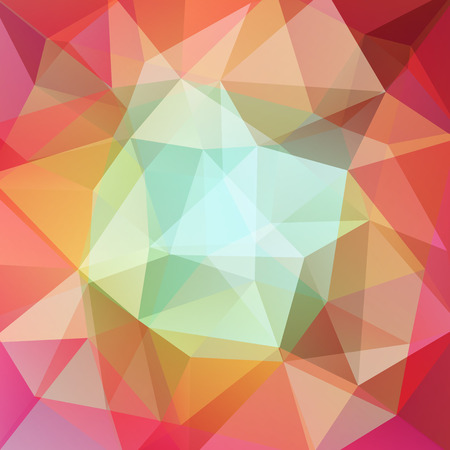 scrunch: Abstract polygonal vector background. Colorful geometric vector illustration. Creative design template. Red, green, orange colors.