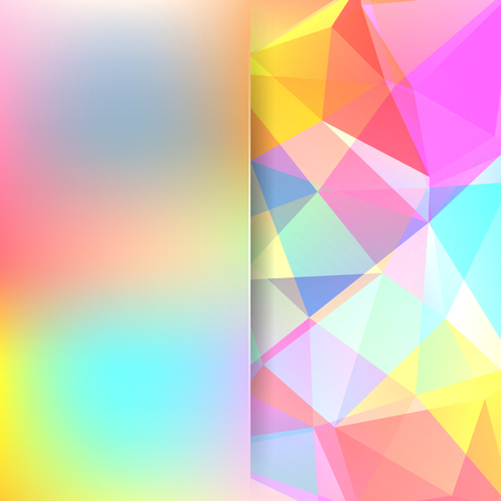 Colorful polygonal vector background. Blur background. Can be used in cover design, book design, website background. Vector illustration