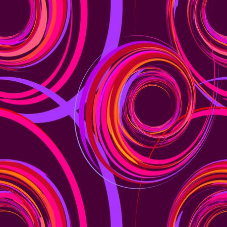 ピンク、紫色の幾何学的な要素を持つシームレスなパターンを抽象化、ベクトル イラスト