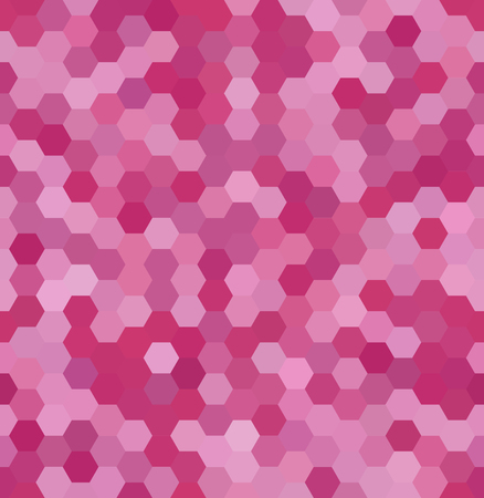 Background made of pink hexagons. Seamless background. Square composition with geometric shapes Illustration