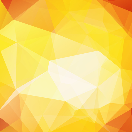 Polygonal vector background. Can be used in cover design, book design, website background. Vector illustration. yellow, orange colors.