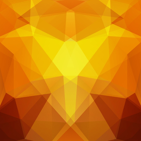 Background made of yellow, orange triangles. Square composition with geometric shapes. Eps 10 Illustration