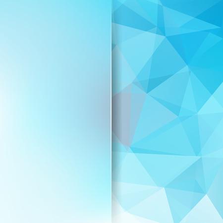 Abstract geometric style light blue background vector illustration Illustration