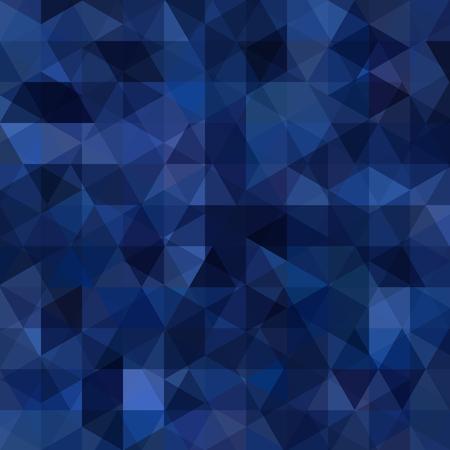 Geometric pattern, triangles vector background in dark blue tones. Illustration pattern
