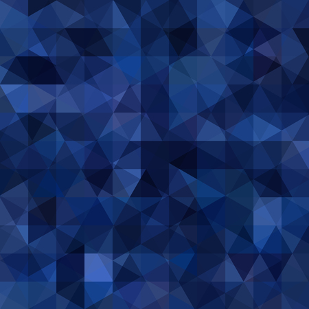 Geometric pattern, triangles vector background in dark blue tones. Illustration pattern