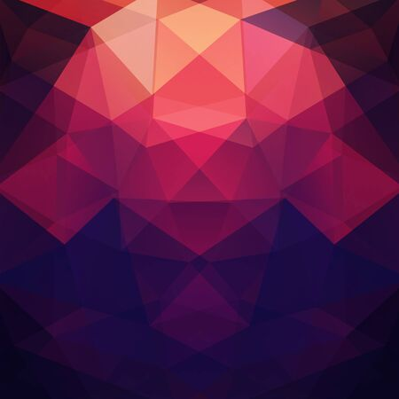Background made of red, purple, black triangles. Square composition with geometric shapes. Eps 10 Illustration