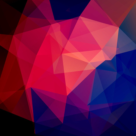 Background of geometric shapes. Mosaic pattern. Vector EPS 10. Vector illustration. Red, blue colors.