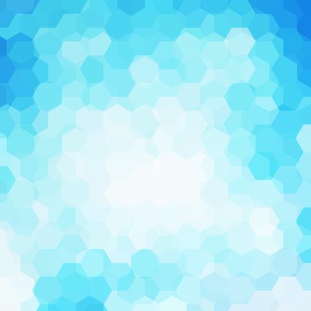 Background of geometric shapes. Blue mosaic pattern.   Vector illustration