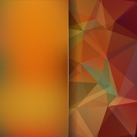 Square composition with geometric shapes and blur element.