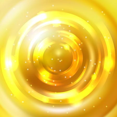 Yellow shining round frame template design. Illustration
