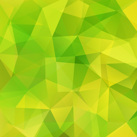 Polygonal vector background. Can be used in cover design, book design, website background. Vector illustration. Green, yellow colors. Illustration