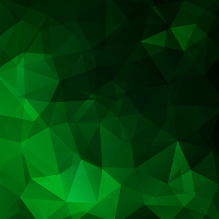 Geometric pattern, polygon triangles vector background in green tones. Illustration pattern