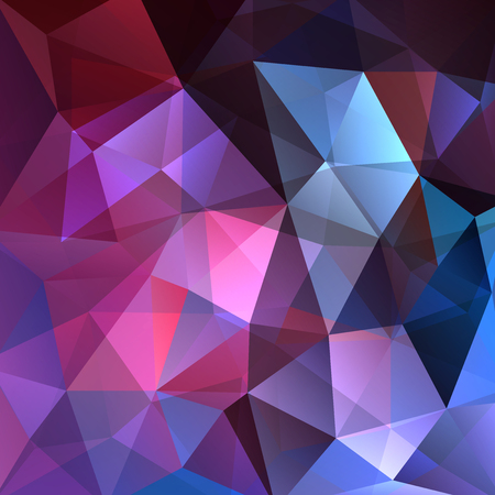 Background made of pink, purple, blue triangles. Square composition with geometric shapes. Illusztráció