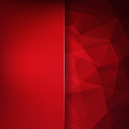 Background made of red triangles. Square composition with geometric shapes and blur element. Eps 10