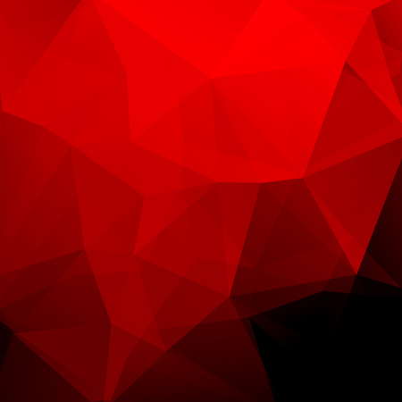 Red polygonal vector background. Can be used in cover design, book design, website background. Vector illustration