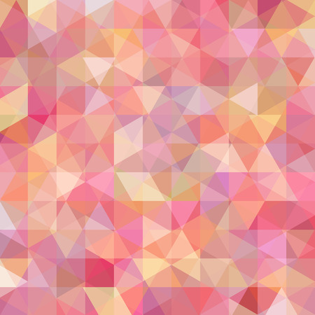 Abstract mosaic background. Triangle geometric background. Design elements. Vector illustration. Pink, orange colors. Illustration