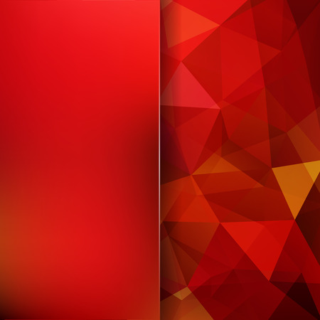 Abstract polygonal vector background. Red geometric vector illustration.