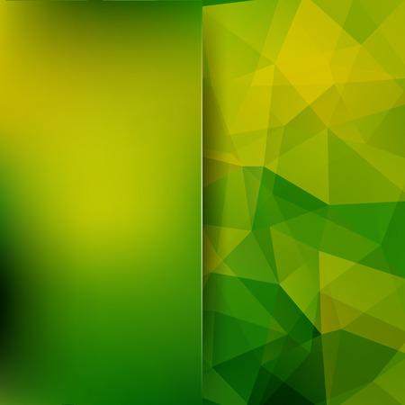 Abstract polygonal vector background. Green geometric vector illustration. Creative design template. Abstract vector background for use in design