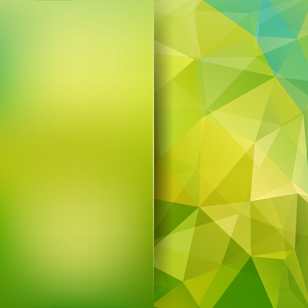 Polygonal green vector background. Blur background. Can be used in cover design, book design, website background. Vector illustration