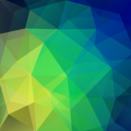 Geometric pattern, polygon triangles vector background in green and blue tones. Illustration pattern Illustration
