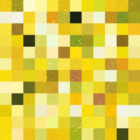 Seamless yellow geometric checked pattern. Ideal for printing onto fabric and paper or decoration. Иллюстрация