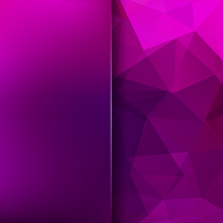 Polygonal pink vector background. Blur background. Can be used in cover design, book design, website background. Vector illustration