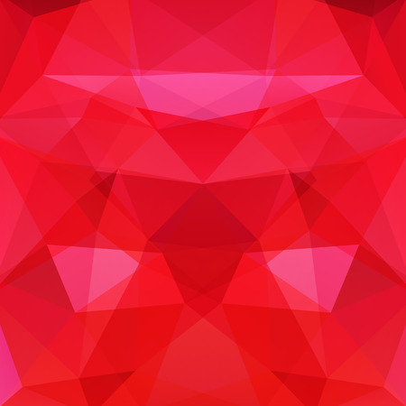 Abstract geometric style red background. Vector illustration