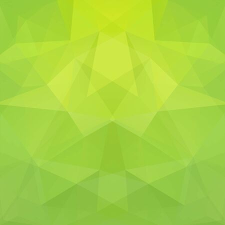 Geometric pattern, polygon triangles vector background in green tone. Illustration pattern